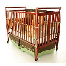 Dream On Me Bella 2-in-1 Convertible Sleigh Crib - Cherry