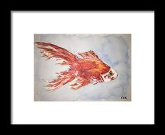 Gold Fish Framed Print by Kelly Goss. All framed prints are professionally printed, framed, assembled, and shipped within 3 - 4 business days and delivered ready-to-hang on your wall. Choose from multiple print sizes and hundreds of frame and mat options. Wall Art For Sale, Wild Dogs, Goldfish, Spice Things Up, Special Gifts, Decorating Your Home, Sketches, Framed Prints, Tapestry