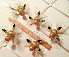 Bird Types, Merry Christmas Everyone, Bird Ornaments, Gold Material, Wings, Im Not Perfect, Japan, Retro, Ebay