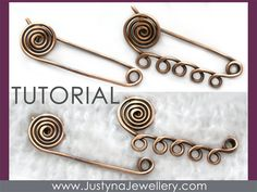 This is awesome! Spiral Safety Pin Tutorial, Wire Jewelry Tutorial, Kilt Pin Brooch Tutorial, Shawl Pin Tutorial, Scarf Pin Pattern, Wire Wrapping Tutorial. $1.99, via Etsy.