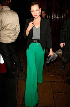 emerald green pants--yes please