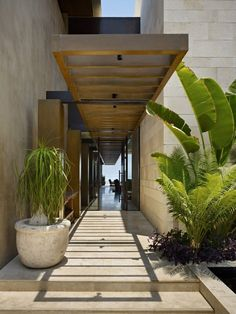 The house's entry hall takes you directly to the amazing outdoors in the back of this luxurious home