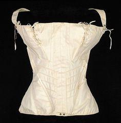 Stays  Date:     ca. 1835 Culture:     American Medium:     Cotton, bone, metal Credit Line:     Brooklyn Museum Costume Collection...