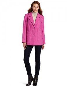 Wool coats Pendleton Women's Thames Walking Coat, Pretty Pink Melton, X-Large On Sale Fall Trends, Pretty In Pink, Autumn Fashion, Leather Jacket, Blazer, Walking, Wool Coats, Jackets, Clothes