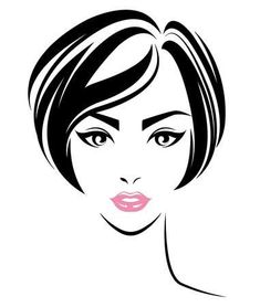 Women short hair style icon logo women face on vector image on VectorStock Look Wallpaper, Drawing Heads, Hair Illustration, Fashion Clipart, Profile Picture For Girls, Woman Drawing, Girl Short Hair, Oil Painting Abstract, Short Hairstyles For Women