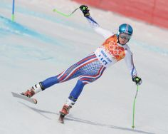 DAY 10:  Stepan Zuev of Russia competes during the Alpine Skiing Men's Super-G http://sports.yahoo.com/olympics