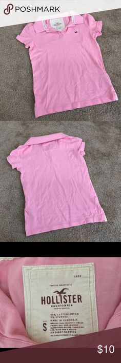 ✨Like New✨ Pink Hollister Polo 💕Perfect Condition💕Size S Hollister Tops Tees - Short Sleeve