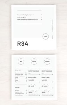 Row34 Menu Design