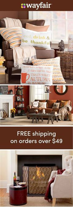 Cozy spaces: Sign up for access to exclusive sales and new arrivals every day! Small space, big updates. Get your apartment or small room feeling cozy with these easy, space-saving updates – perfect for new season. The best part? FREE shipping on all orders over $49 at Wayfair!