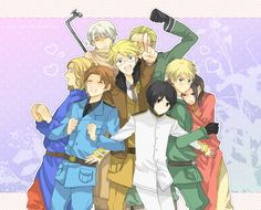 by わに - Hetalia - France / Italy / Russia / America / Germany / Japan / England / China - http://www.pixiv.net/member.php?id=604231