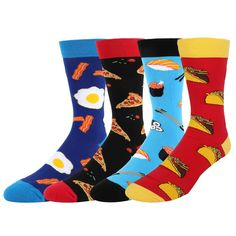 27734fa7967c Men's Novelty Crazy Funny Space Crew Socks Alien Astronaut Planet Cool  Gifts for Science Lover