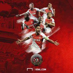 Winners of French league 2017 -Monaco🔴 French League, As Monaco, Champions League, Rey, Congratulations, Seasons, Christmas Ornaments, Holiday Decor, Ideas