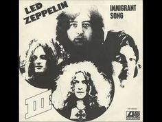Today 11-5 in 1970 Led Zeppelin released their single of the 'Immigrant Song'  Cool photo for a silkscreen t-shirt!
