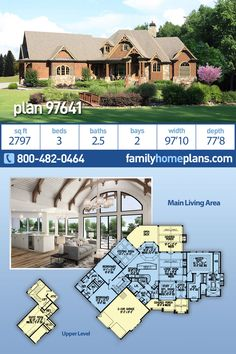 Elegant craftsman floor plan with 2797 square feet of heated floor space. A one-story home with optional bonus upstairs, Pole Barn House Plans, Bungalow House Plans, Pole Barn Homes, House Floor Plans, One Level House Plans, One Story Homes, Craftsman Style House Plans, Log Cabin Homes, Heated Floor