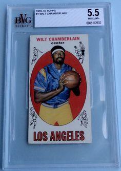 """1969 Topps Wilt Chamberlain cd# 1  Beckett (BVG)   EX  5.5   """"Great Card!"""""""
