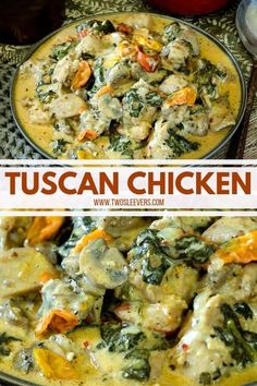 italian recipes This Tuscan Chicken recipe is creamy, garlicky, comforting chicken perfection! Its one of those dishes that you wont be able to stop eating, and its low carb as well so you dont have to feel guilty for doing so! Healthy Low Carb Recipes, Keto Recipes, Soup Recipes, Dessert Recipes, Diabetic Meals, Pumpkin Recipes, Dinner Recipes, Italian Dishes, Italian Recipes