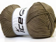 Baby AntiBacterial Khaki knitting yarn from ice yarn