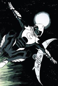 Marvel Comics Art, Marvel Heroes, Marvel Dc, Comic Movies, Comic Games, Comic Books, Marvel Moon Knight, Knight Art, Sketch Tattoo