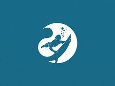 Logo Design Deep Water Extreme Watersports on Behance
