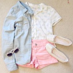 Light Blue Long Sleeve Bleached Denim Blouse