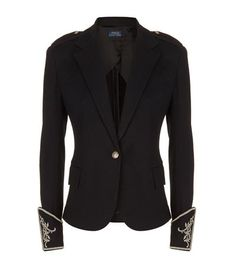 Polo Ralph Lauren Embellished Cuff Blazer available to buy at Harrods. Shop women