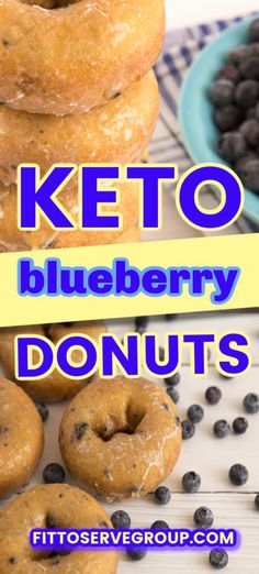 Apr 2020 - Indulge in a delicious recipe for keto blueberry donuts that both adults and children will enjoy! Made with a combo of coconut and almond flour, these low carb donuts are tender, and packed with blueberry goodness. Low Carb Donut, Low Carb Keto, Low Carb Desserts, Low Carb Recipes, Blueberry Recipes Low Carb, Health Recipes, Vegetarian Recipes, Donuts Keto, Keto Cookies
