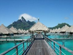 Over the water bungalow in Bora Bora.