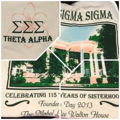 Tri-Sigma Founders day shirt ΘΑ chapter