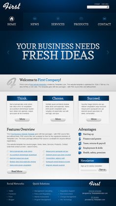 48 best free business html templates images on pinterest html free business website template wajeb Choice Image