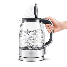 Great tasting tea starts with clear, clean water. The large capacity Crystal Clear Electric Water Boiler from Breville is made of German SCHOTT glass which will impart no taste to the water. Air Purifier Reviews, Water Boiler, Drills, Dorm Room, Kettle, Perspective, Kitchen Ideas, Coffee Maker, Electric