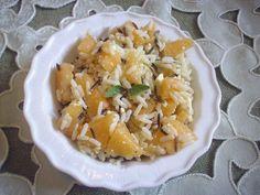 Insalata di riso con melone e feta