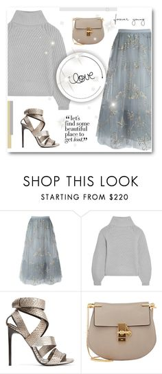"""""""Happy Birthday @kelly-floramoon-legg!"""" by paradiselemonade ❤ liked on Polyvore featuring Valentino, Iris & Ink, Tom Ford and Chloé"""