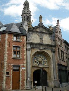On the roof of the Saint-Paul Church Antwerp - Sint-Pauluskerk, Belgium.