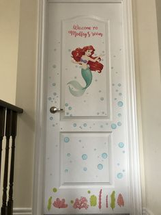 The Little Mermaid Ariel Disney Princess - Welcome to Your World Girl Room, Baby Room, Reusable Wall Stickers, Fantasy Bedroom, Ariel The Little Mermaid, Welcome, Kids Bedroom, Nursery, Disney Princess