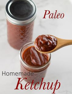 This paleo ketchup has almost half the grams of sugar as my favorite organic brand, and it is naturally sweetened with honey.