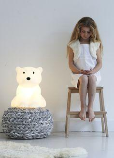 Nanuk lamp - Created by Mr Maria Polar Cub, Polar Bear, Led Light Design, Lighting Design, Kids Lighting, Lighting Ideas, House Doctor, Broste Copenhagen Nordic Sand, Great North