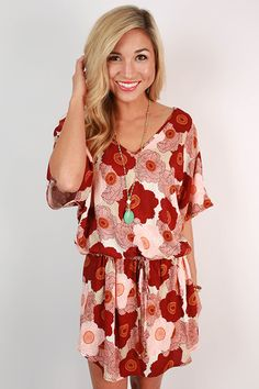 Floral fields won't be the prettiest thing this summer if you wear this dress! Wear it with sandals or wedges for a beautiful look that's as charming as a Southern drawl!