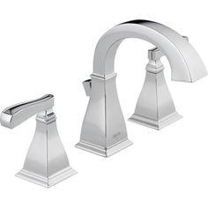 Bathroom Remodel Delta Olmsted Chrome 2 Handle Widespread Watersense Sink Faucet Drain
