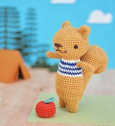 Örgü Bebek Yelek Robası Modelleri ve Yapılışları Amigurumi For Beginners, Amigurumi Doll, Crochet Toys, Squirrel, Free Pattern, Art Projects, Dinosaur Stuffed Animal, Tweety, Crochet Patterns