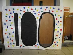 Might be a fun way for the kiddos to enter the classroom on Day 100! Can also be use for different thematic units.