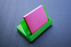 Cassette case into BIZ card- note pad holder-phone holder
