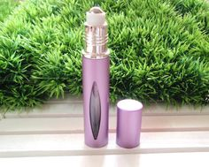 1 x Purple Outer-Metal Essential Oil Roller Bottle, tall Purple Roller Bottles with Metal Roller Ball, Travel Size Roller Bottle Essential Oil Bottles, Essential Oil Blends, Essential Oils, Travel Size Products, Spray Bottle, Glass Bottles, Purple, Pink, Essentials