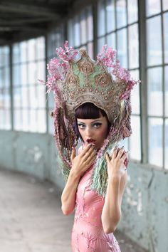 Head pieces and masks by Katarzyna Konieczka, via Behance