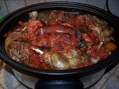 Chicken Bacon, Mets, Paella, Crockpot, Slow Cooker, Pork, Ethnic Recipes, Sauce, Foodies