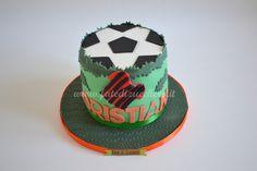 Torta Pallone da Calcio Milan per il Compleanno: con design in 2D, interamente…
