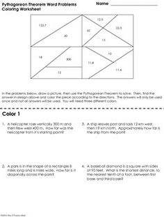 Printables Pythagorean Theorem Problems Worksheet pinterest the worlds catalog of ideas pythagorean theorem word problems coloring worksheet