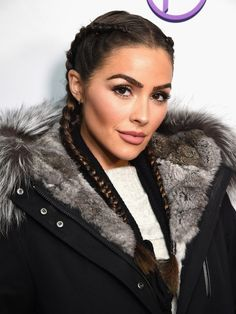 Olivia Culpo bundles up in fur parka for Utah event Small Braids, Two Braids, Micro Braids, Olivia Culpo, Pretty Brunette, Brunette Color, Trending Hairstyles, Braided Hairstyles, Cut Her Hair