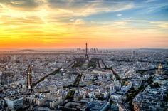 Paris sunset by ussady