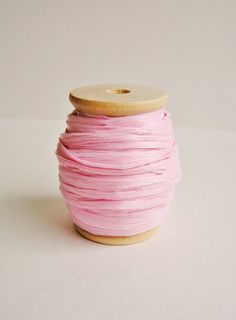 pink raffia ribbon spool from the Gilded Bee on Etsy Pretty In Pink, Pink Day, Dusty Pink, Pale Pink, Magenta, Pink Parties, Everything Pink, Color Rosa, Pink Outfits