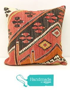 Embossed Pillow cover 16x16 inch (40x40 cm) Trendy kilim pillow cover Home Decor Rustic Pillow cover Chevron Kilim Cushion Cover from Kilimwarehouse https://www.amazon.com/dp/B01M4QBNOC/ref=hnd_sw_r_pi_dp_ev0fybRS3Q6G7 #handmadeatamazon